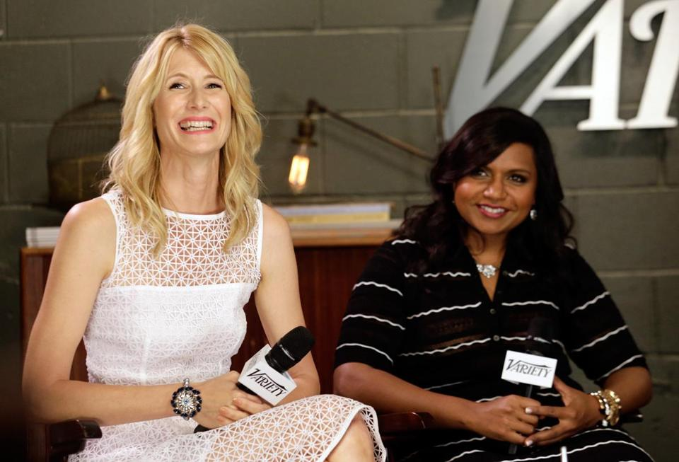 "Laura Dern (left) and Mindy Kaling at the ""Leading Actress"" panel."