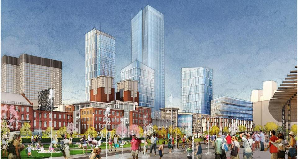 The proposed redevelopment of the Goverment Center Garage in Downtown Boston.