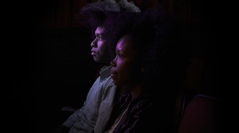 "Terence Nance and Namik Minter in a scene from Nance's film, ""An Oversimplification of Her Beauty."""