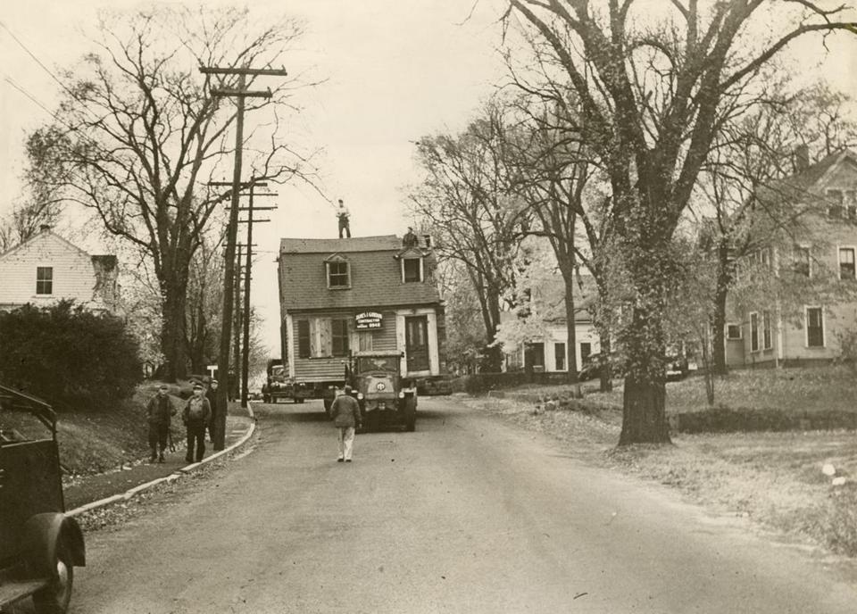 In 1947, the Weymouth house where Abigail Adams was born was sawed in half and moved to its present site at North and Norton streets.