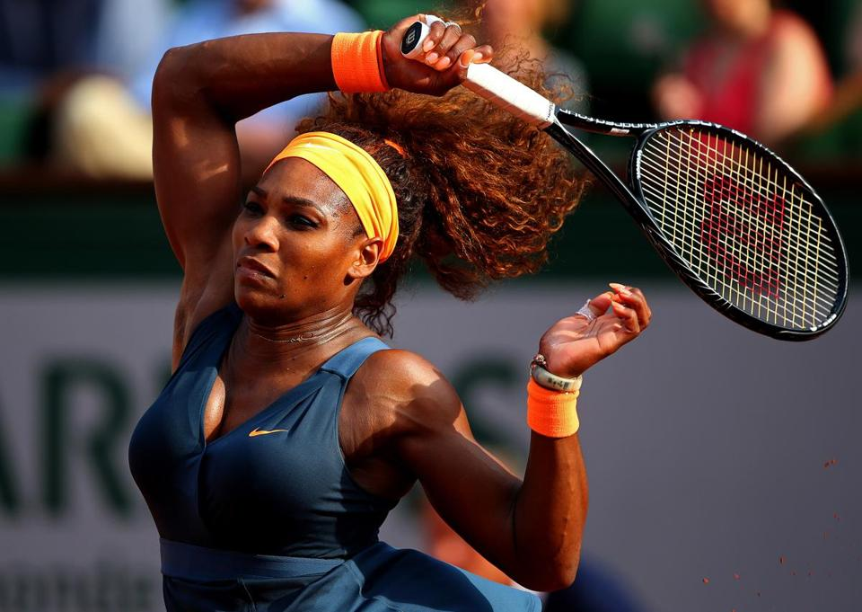 Top-ranked Serena Williams needed just 46minutes to dump fifth-seeded Sara Errani, 6-0, 6-1, in the semis.