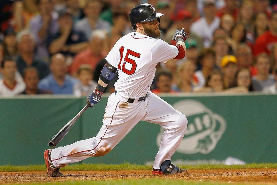 Dustin Pedroia was 2 for 4 with two RBIs in the Red Sox' 7-2 win over the Angels on Saturday night.