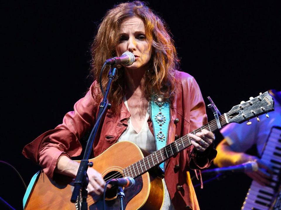Patty Griffin (pictured performing in New York earlier this month) played many of her new songs on Friday.