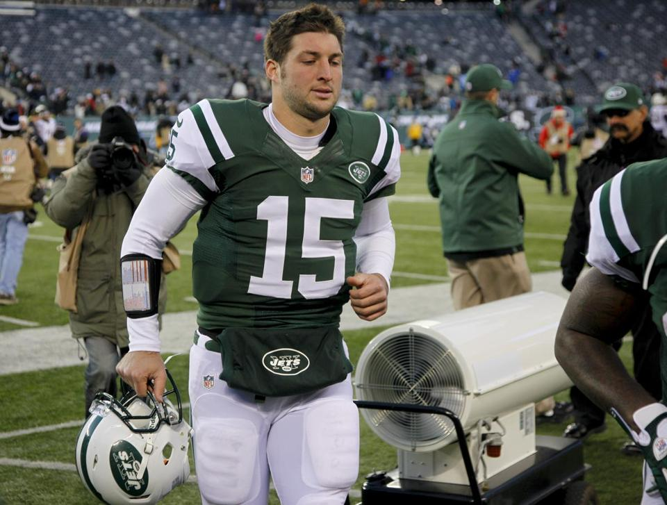 The Jets released Tim Tebow in April.