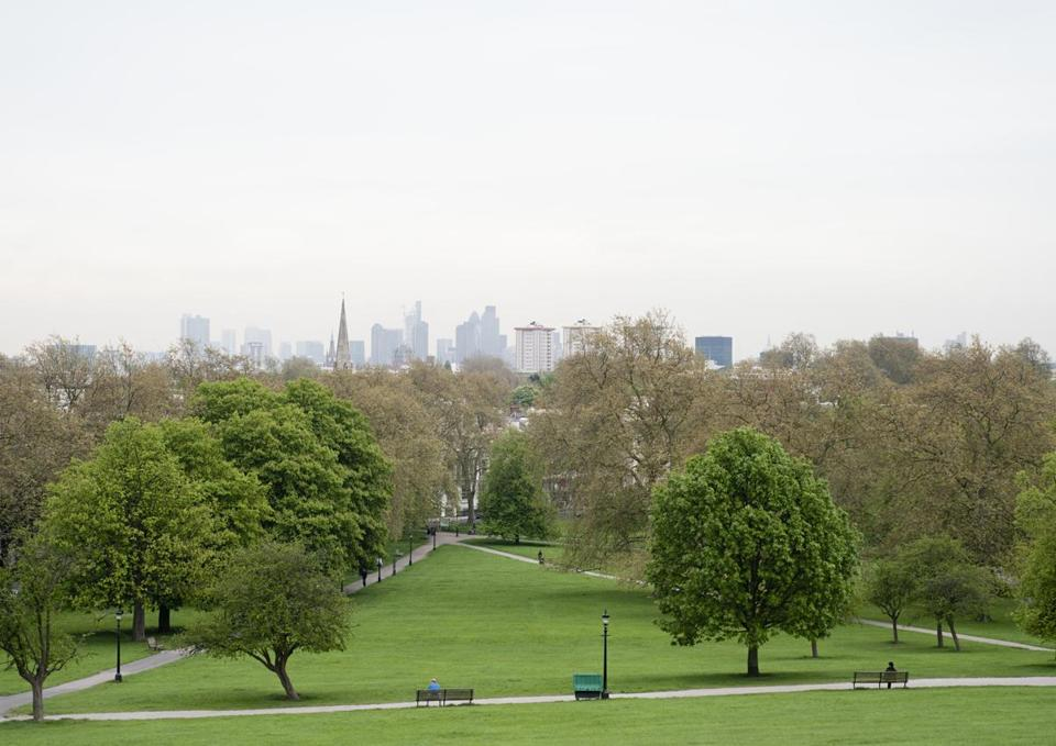 The London skyline seen from Primrose Hill.