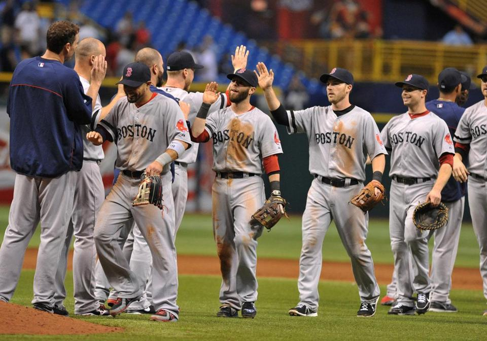 The Red Sox have won three straight and seven of their last nine.