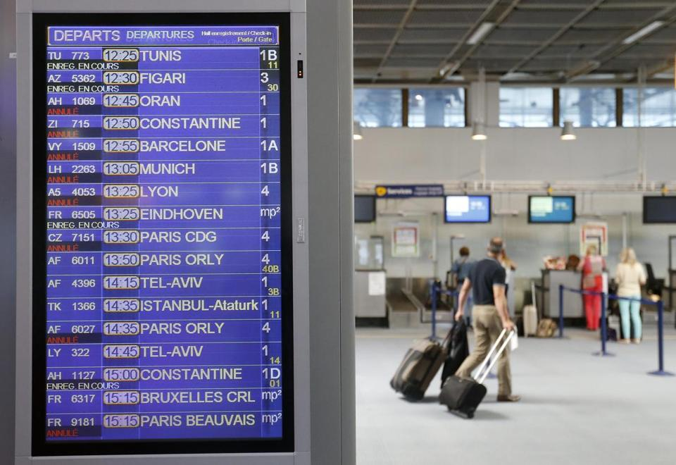 An air traffic controllers strike in France went into its second day, forcing the cancellation of 1,800 flights, officials said.