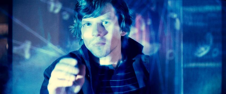 "Jesse Eisenberg in the trailer for ""Now You See Me."""