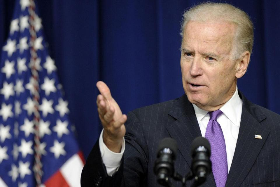 Vice President Joe Biden urged some 200 attendees not to assume that Rep. Edward Markey will win the Senate race.