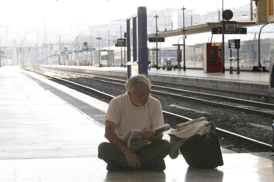Up to 70 percent of train journeys in France were canceled Thursday. Above, a station in Marseille.