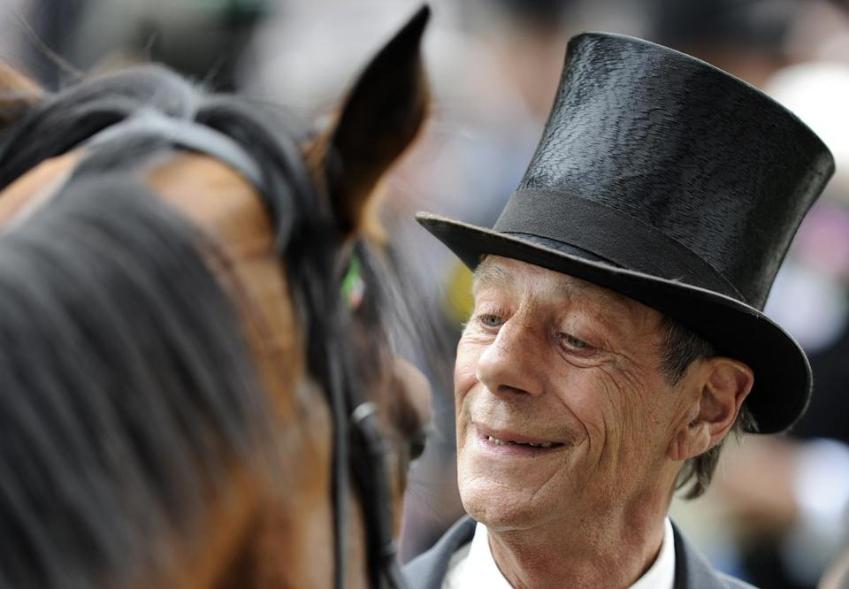 Sir Henry with Frankel at the Royal Ascot. The horse won all 14 of his races.