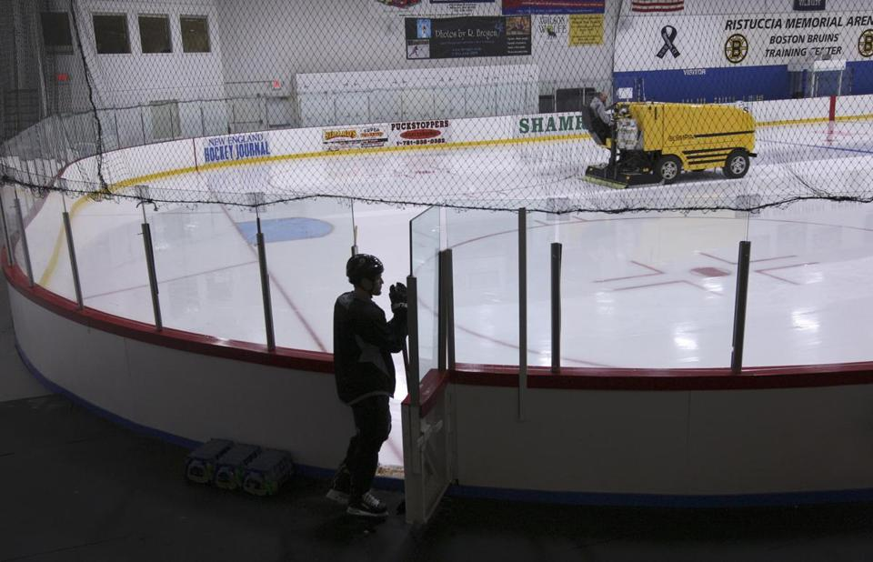 The Bruins train at a no-frills rink in Wilmington, which is cramped and out of the way for one of the NHL's top teams.