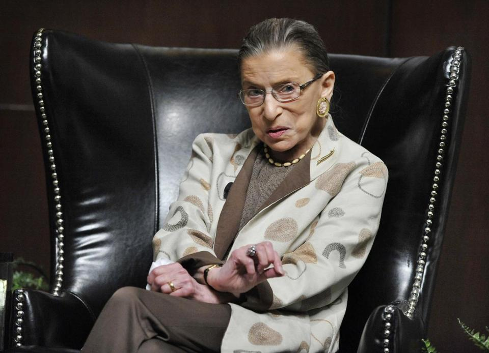 Ruth Bader Ginsburg discussed Roe vs. Wade on its 40th anniversary at The University of Chicago Law School in May.