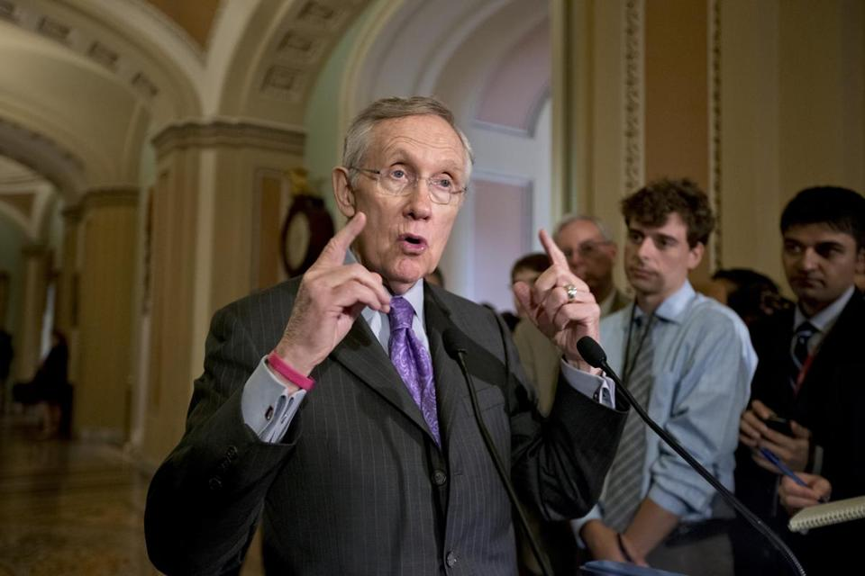 Senate Majority Leader Harry Reid spoke with reporters about immigration reform, intelligence leaks, and other issues on June 11.