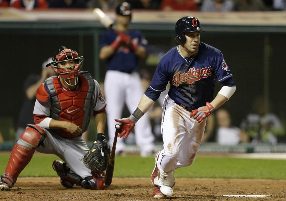 Jason Kipnis was the hero for the Indians, driving in the winning run on a fielder's choice in the ninth inning.