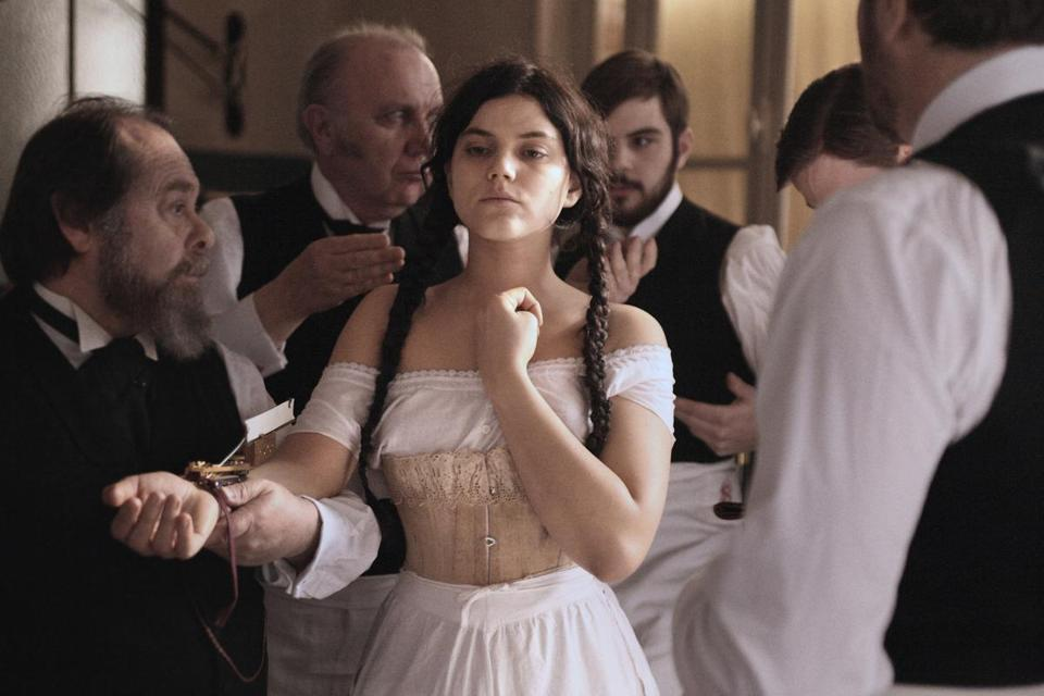 "Soko plays a maid who winds up in an asylum in ""Augustine."""