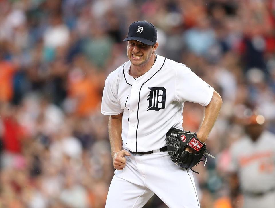 Detroit righthander Max Scherzer became the first starter to win the season's first 10 decisions since 1997.