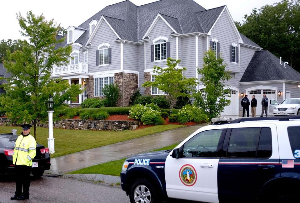 Police surrounded the North Attleborough home.