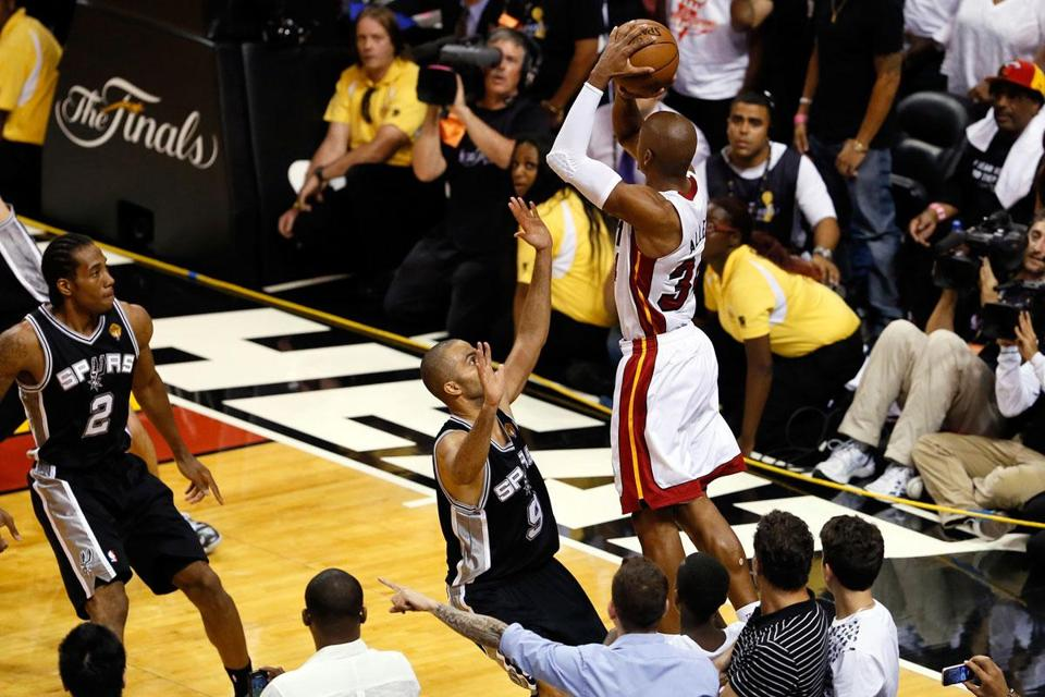Ray Allen saved the Heat's season by hitting a 3-pointer with 5.2 seconds left in Game 6.