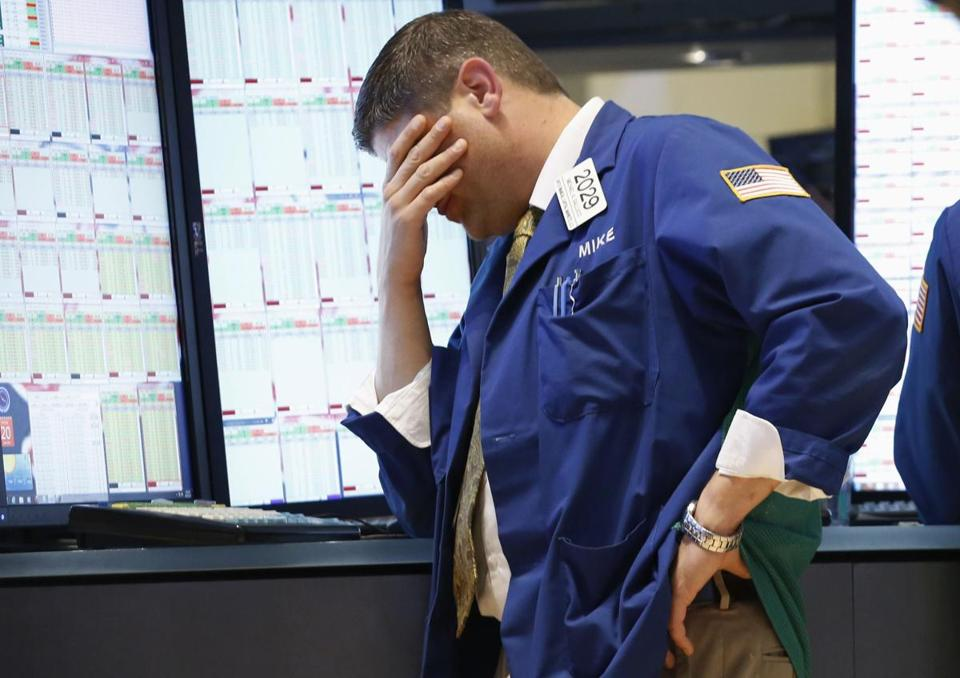 A specialist trader worked on the floor at the New York Stock Exchange.