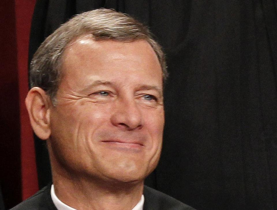 Chief Justice John G. Roberts Jr. said federal policy ran afoul of the First Amendment.