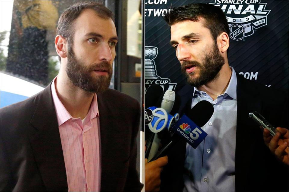 Defensive stalwarts Zdeno Chara (left) and Patrice Bergeron (right) have handled opponents' top lines.