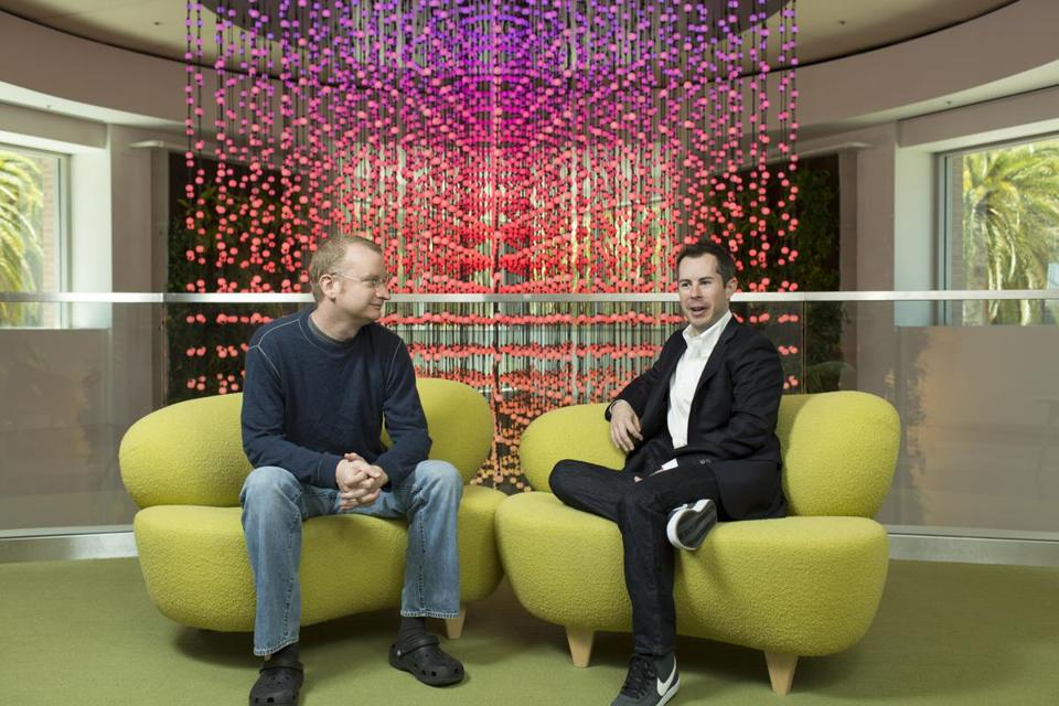 Graham Spencer (left), a general partner in Google Ventures, and Bill Maris, managing partner.