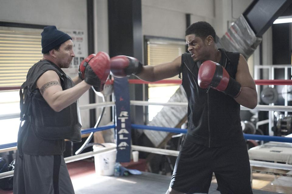 "Pooch Hall (right) with Eddie Marsan in ""Ray Donovan."""