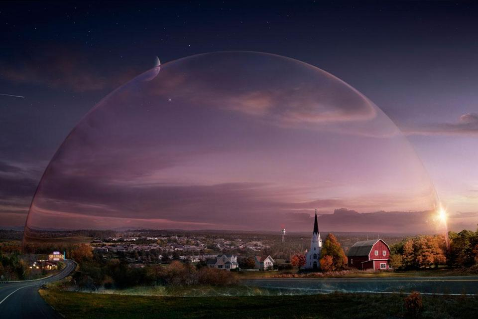 The people of a fictional Maine town get stuck inside a dome.