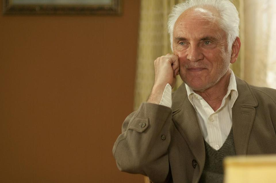 Terence Stamp plays a grumpy man who joins his wife's community senior choral group.