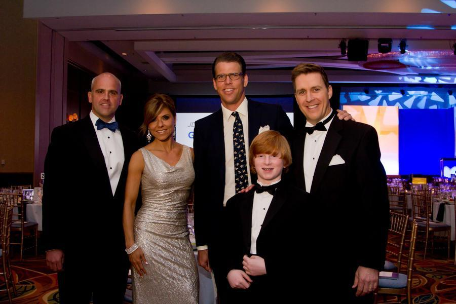 Finn Doherty (front) with Bill Burnett, Maria Stephanos, Gary Hall Jr., and  Mark Ockerbloom at a gala in May for juvenile diabetes research.