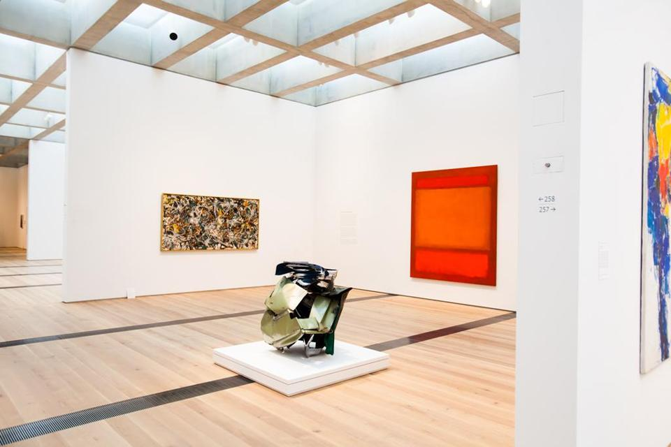 Paintings by Jackson Pollock, left, and Mark Rothko in the new East Building of the St. Louis Art Museum.