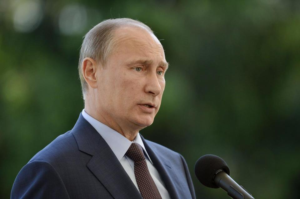 Russian President Vladimir Putin spoke to reporters in Naantali, Finland on Tuesday.