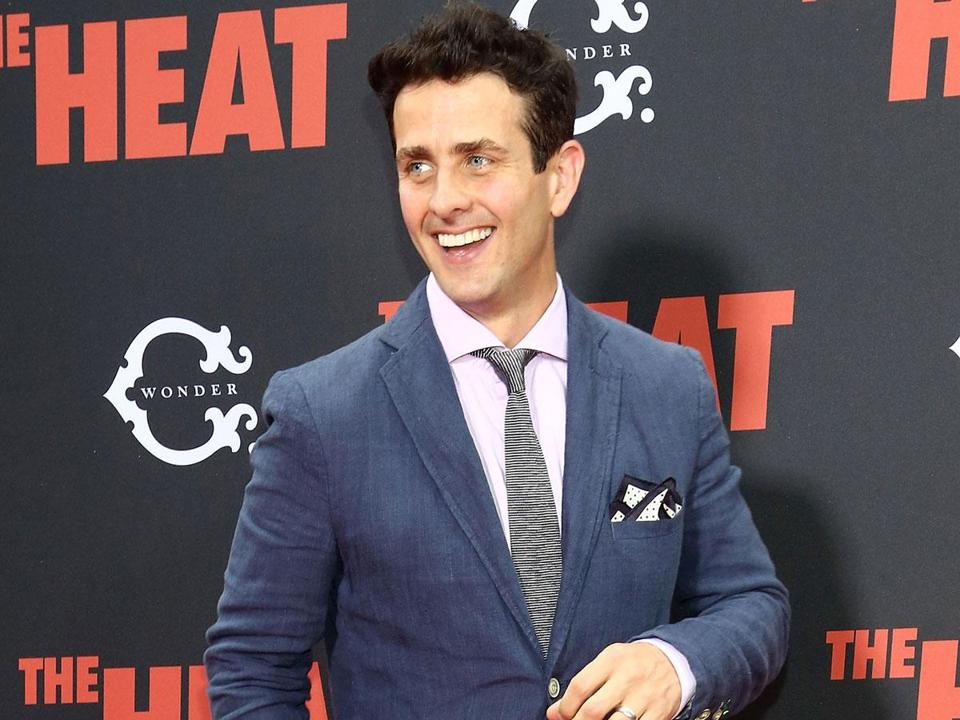 "Joey McIntyre at ""The Heat"" premiere in New York."
