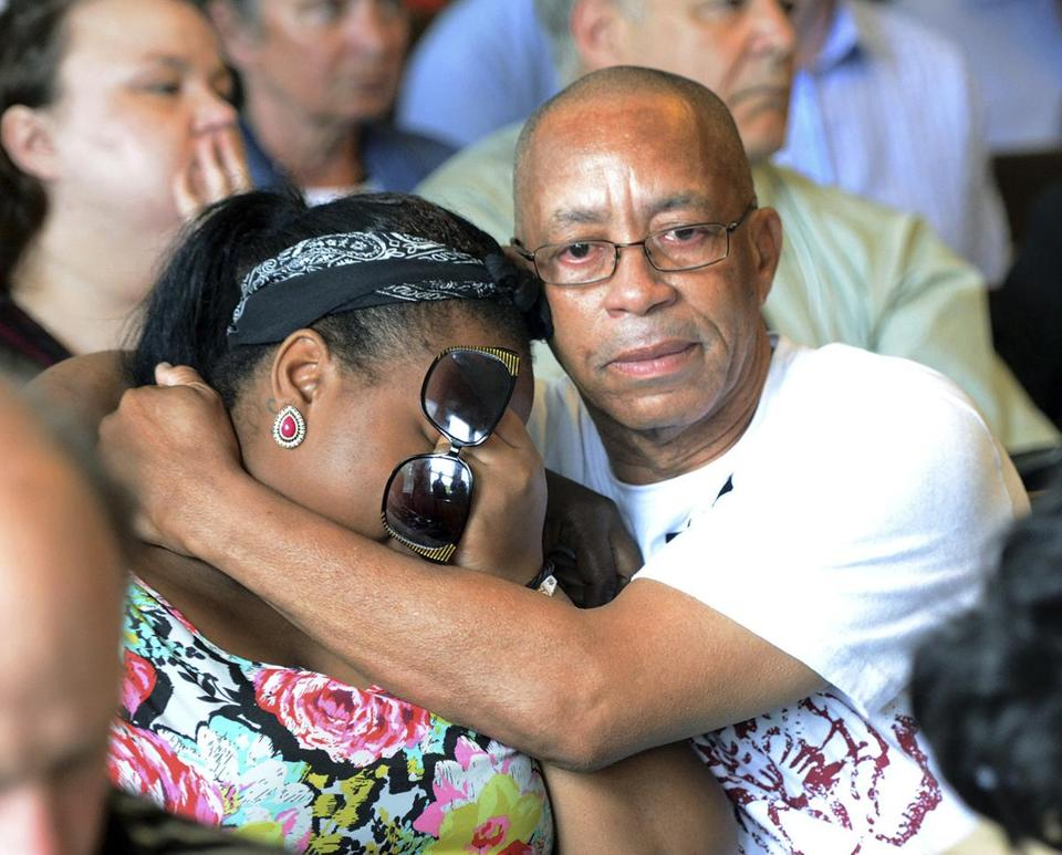Family members of Odin Lloyd reacted during the arraignment of Aaron Hernandez in Attleboro District Court.