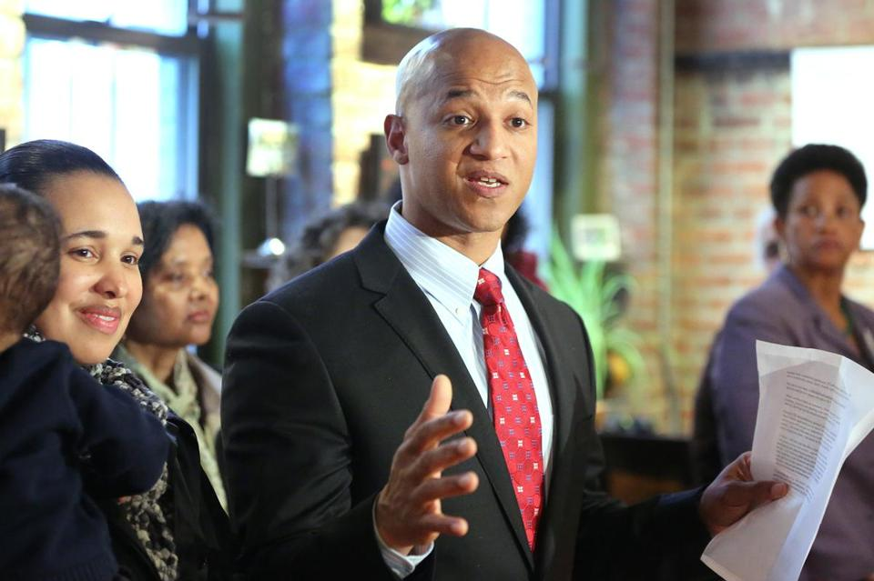 John Barros announced his campaign for mayor of Boston in April.