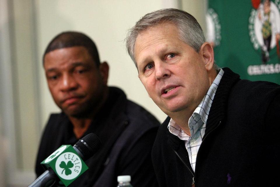 "According to Danny Ainge, the team sent Doc Rivers a letter May 9 saying they ""expected him to be our coach and fulfill his contract . . . That's what we hoped that he would do."""