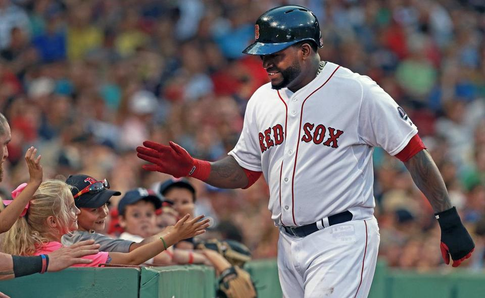 David Ortiz was on base four times for the Red Sox in Tuesday's win.
