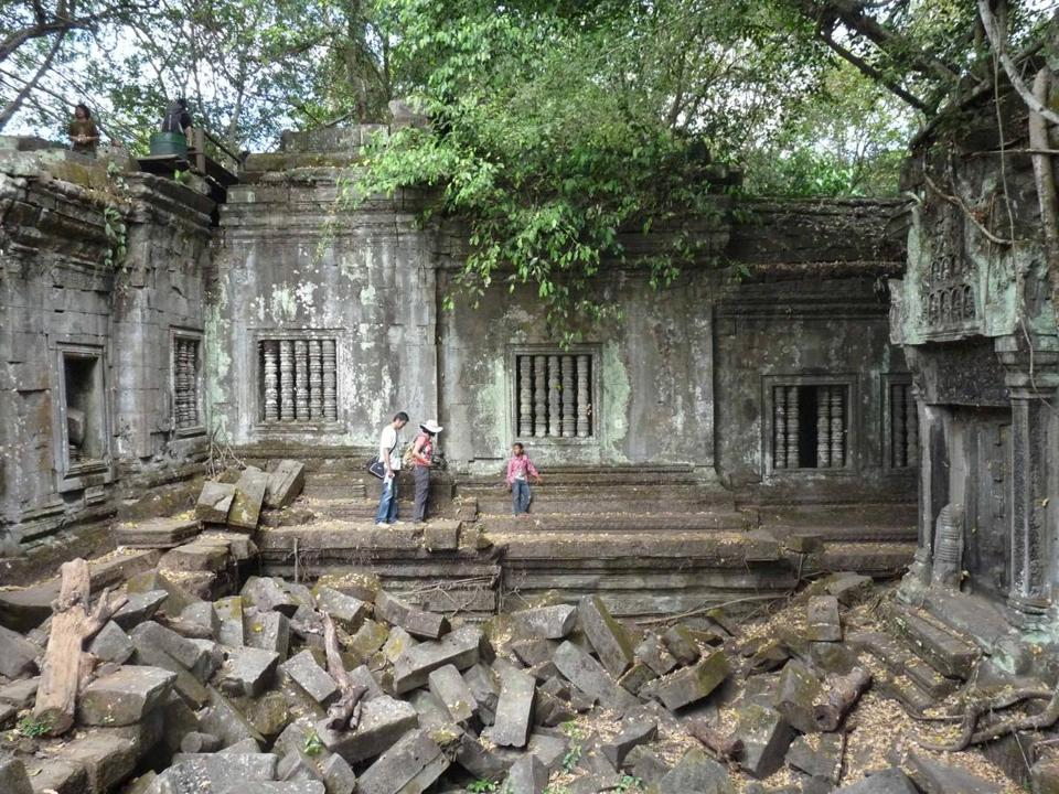 The ruins of Beng Mealea, a 900-year-old unpreserved temple is spread over several acres of jungle, is a series of so-called libraries, courtyards, and other chambers that surround a sanctuary.