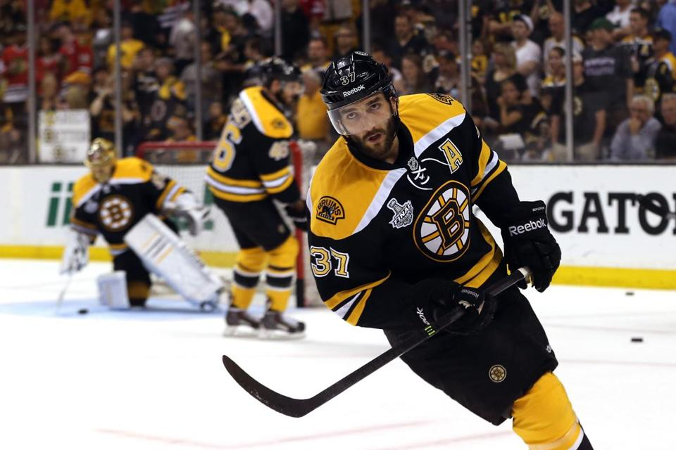 Patrice Bergeron's hospitalization for a hole in his lung underscored his dogged, understated determination.