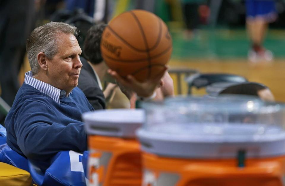 Despite interviewing assistant coach Jay Larranaga for the head coaching position, Danny Ainge (pictured) reportedly had his eye on Stevens as a replacement for Doc Rivers.