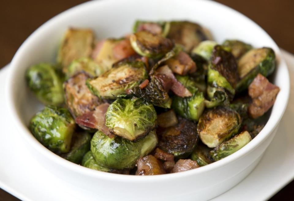 A sfizi brussels sprouts served at Davio's Cucina.