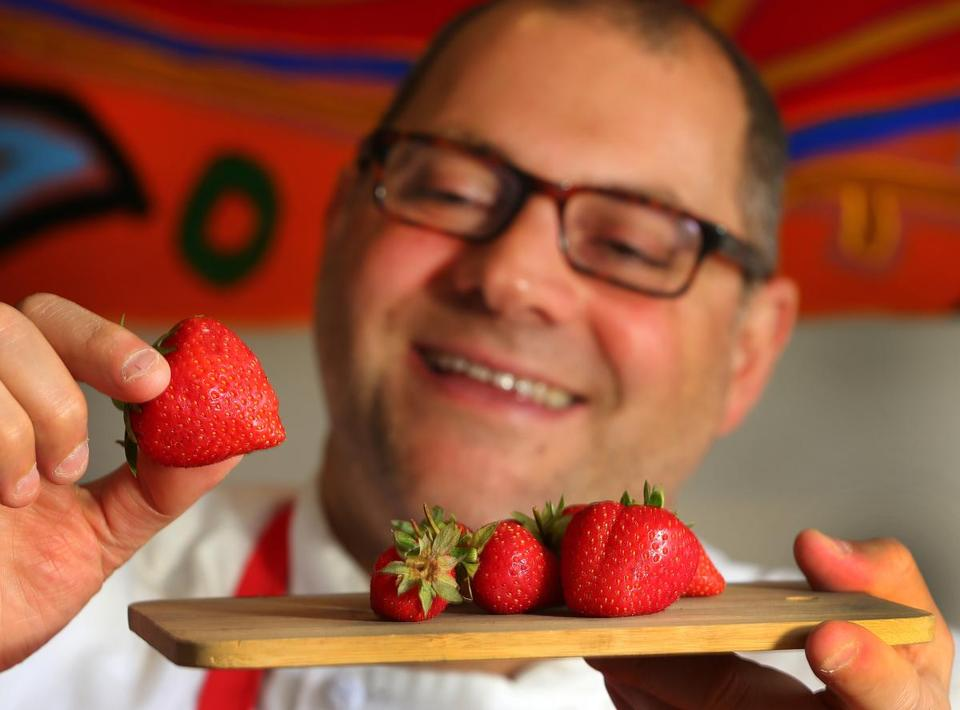 Chef Jeffrey P. Fournier began growing strawberries at the age of 10.