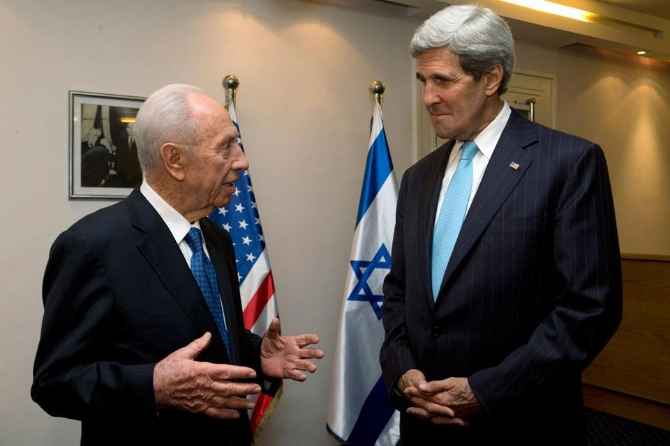 Israeli President Shimon Peres met with Secretary of State John F. Kerry on Friday in Jerusalem.