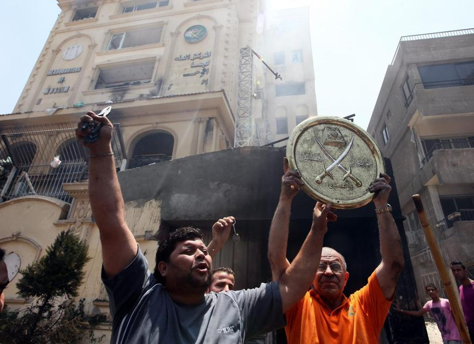 Protesters ransacked the Cairo headquarters of President Mohammed Morsi's Muslim Brotherhood Islamist group.