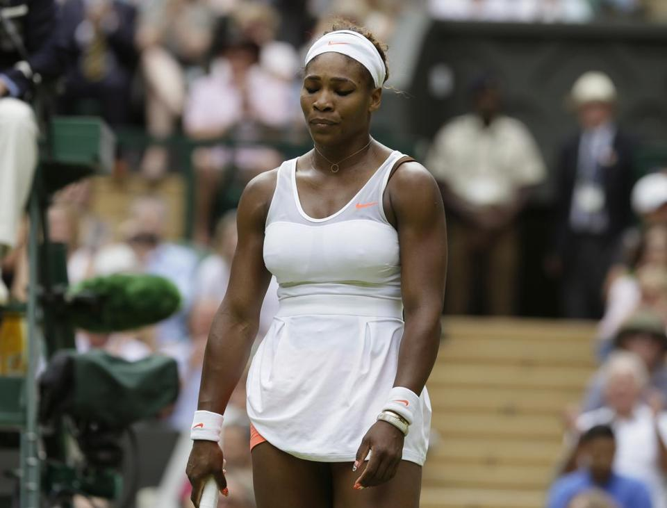 Serena Williams saw her 34-match win streak end on Monday.