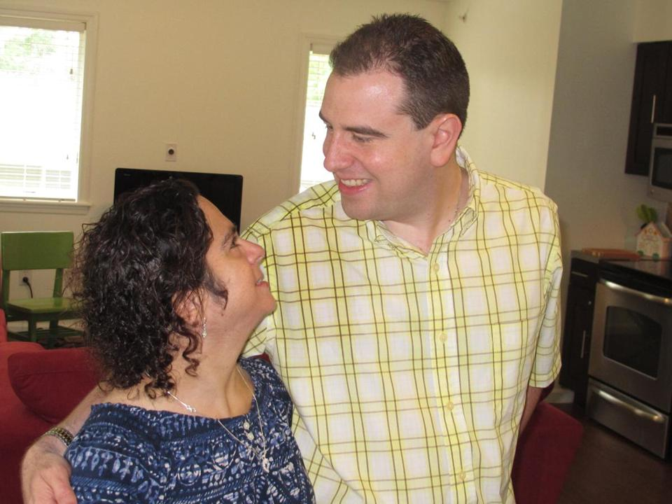 Hava and Paul Forziano celebrated their first day in their new apartment at a group home on Monday.