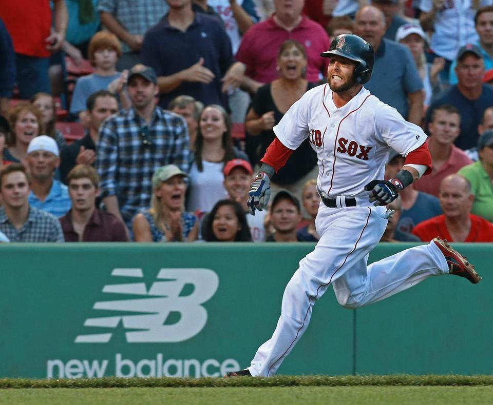 The Red Sox's Dustin Pedroia is among the 300 active Major League players with New Balance endorsement deals.