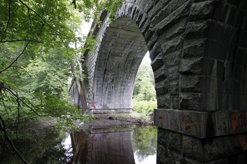 The Waban Arches, off Washington Street in Wellesley, and a bridge in Framingham  are links in a series of trails being reopened.
