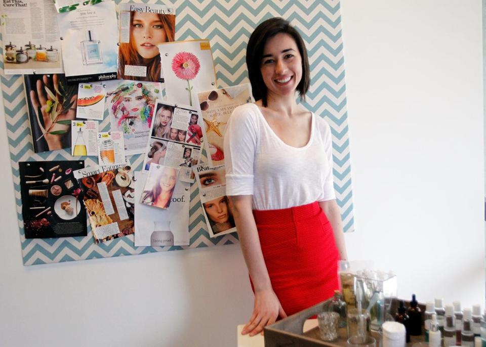 Bona Clara founder Jasmina Aganovic in her Boston office.